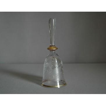 Skleněný zvonek, s dekorem Labutě na čirém skle www.sklenenevyrobky.cz