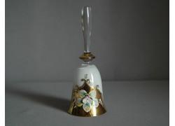 Glass bell, in white and golden decor www.sklenenevyrobky.cz