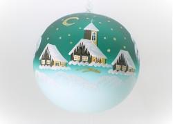 Vánoční koule 18cm decor zima zelená