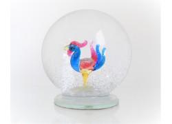 Sněžící koule 10cm Kohout