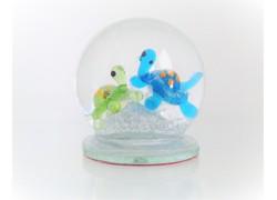 Sněžící koule 6cm - s dvěmi želvami