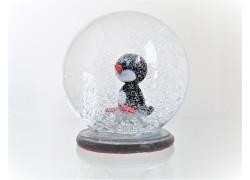 Sněžící koule 8cm - malý tučňák