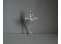Figurka tanečnice-baleríny, čiré sklo