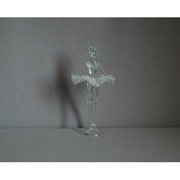 Baletka střední 13cm crystal