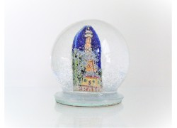 Snow globe 8cm - Prague-Petřín lookout tower www.sklenenevyrobky.cz