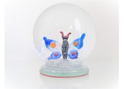 Sněžící guľa 8cm - Motýľ