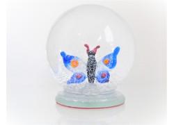 Sněžící koule s motýlem 80mm