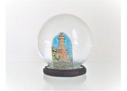 Snow globe 8cm - Prague and Petřín lookout tower www.sklenenevyrobky.cz