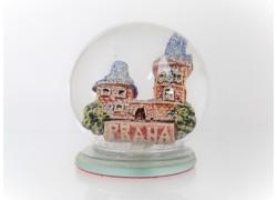 Snow globe 6cm - Prague and Charles Bridge www.sklenenevyrobky.cz