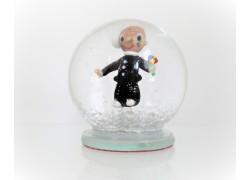Snow globe 8cm - Chimney with ice cream www.sklenenevyrobky.cz