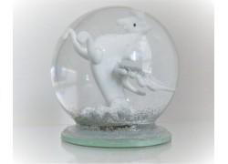 Snow globe 10cm - Horse Pegas www.sklenenevyrobky.cz