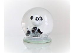 Sněžící koule 6cm - medvěd Panda