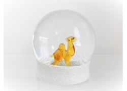 Snow globe 8cm - camel