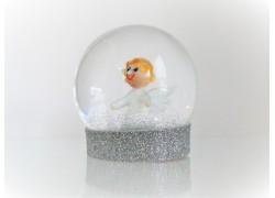 Sněžící koule s Andělem 80mm