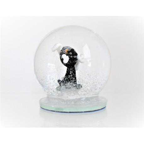Sněžící koule Pes černý s kostí