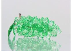 Strapec hrozna z brúsených komponentov veľký 13x4x4 cm zelený www.sklenenevyrobky.cz