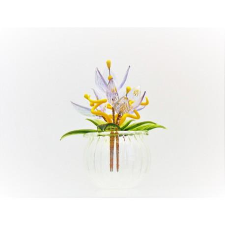 Květina v baňce Fialka 9x6cm