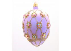 Vajíčko Fabergé fialový mrazolak 7001 zdobené kameny