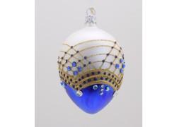 Vajíčko Fabergé modro bílé 1002 zdobené