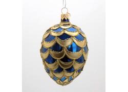 Faberge eggs, blue gold decor, 8001 www.sklenenevyrobky.cz