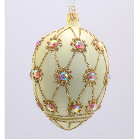 Vajíčko Fabergé žlutý mrazolak 2001 zdobené kameny
