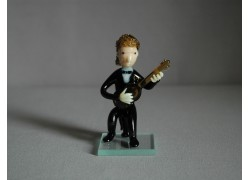 Figurka, hudebník hrající na kytaru