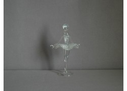 Figurine dancer, ballerina, clear glass www.sklenenevyrobky.cz