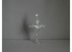 Figurka tanečnice, balerína, čiré sklo www.sklenenevyrobky.cz