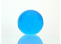 Glass Globe paperweight 80 mm aquamarin www.sklenenevyrobky.cz