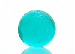 Glass Globe paperweight 80 mm oceanit www.sklenenevyrobky.cz