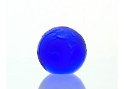 Glass Glob paperweight 80 mm cobalt www.sklenenevyrobky.cz