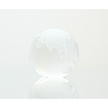 Skleněné těžítko zeměkoule 80mm crystal