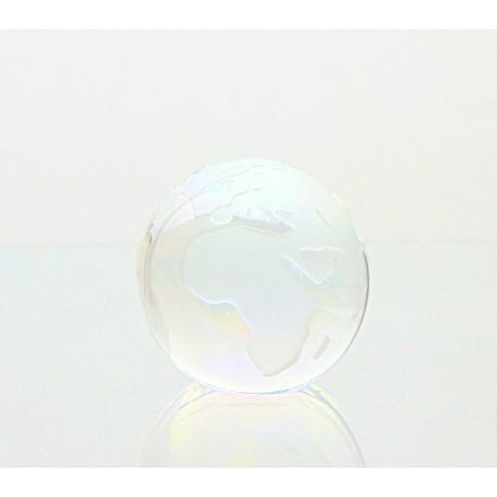 Skleněné těžítko zeměkoule 80mm crystal AB pokovené