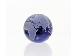 Glass Glob paperweight 60 mm cobalt www.sklenenevyrobky.cz