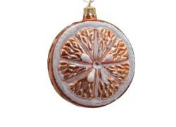 Christmas ornament slice orange www.sklenenevyrobky.cz
