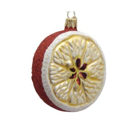 Christmas ornament apple slice www.sklenenevyrobky.cz
