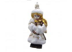 Vánoční ozdoba, anděl 916 s lyrou