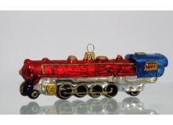 Vánoční ozdoba lokomotiva Western Expres červená