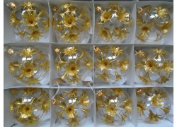 Christmas decorations set of 12 balls 8cm decor angel lilies