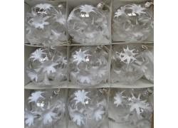 Vánoční ozdoby sada 9 kouliček 8cm decor andělské lilie