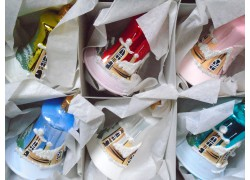 Vánoční ozdoby sada 6 malovaných zvonečků