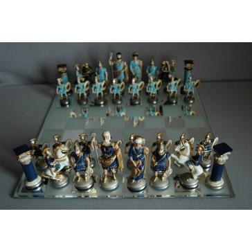 Šachy cínové velké 32x32 cm