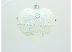 Vánoční ozdoba, Srdce 10cm dekorované