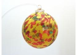 Glass balls 6cm into yellow www.sklenenevyrobky.cz