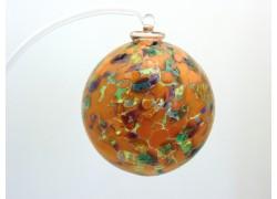 Glass balls 6cm orange / green www.sklenenevyrobky.cz