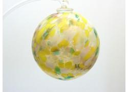Glass balls 6cm yellow www.sklenenevyrobky.cz