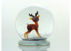 Snow globe 8cm - deer www.sklenenevyrobky.cz