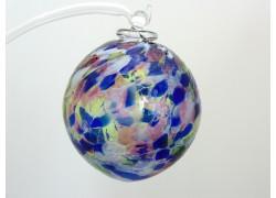 Glass balls 6cm with blue www.sklenenevyrobky.cz
