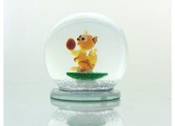 Snow globe 8cm - squirrel www.sklenenevyrobky.cz