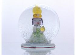 Snow globe and Figurine Prague Jesus baby www.sklenenevyrobky.cz